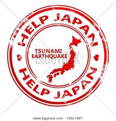 Help japan stamp