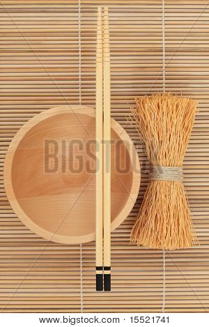 Japanese Bowl Chopsticks And Whisk