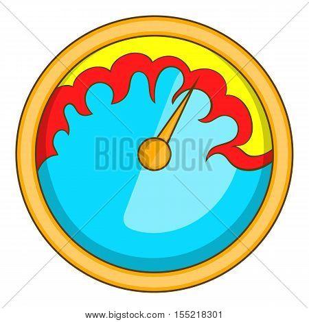 Exclusive speedometer icon. Cartoon illustration of speedometer vector icon for web design