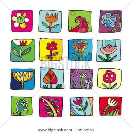 Flowers Icons. To see more flowers icons, please visit my gallery