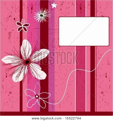 Grunge pink flower background. element for design, vector illustration