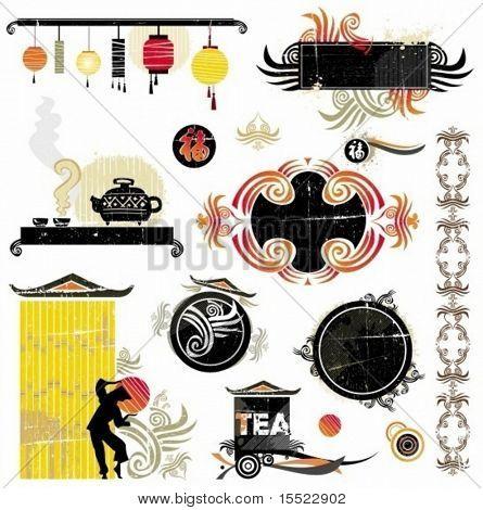 Asiatischen Design-Elemente. Design-Elemente für Chinesisches Neujahr. Um ähnliches zu sehen, besuchen Sie bitte mein g