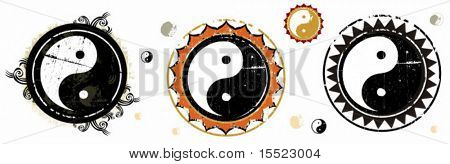 the Yin and Yang grunge signs. 