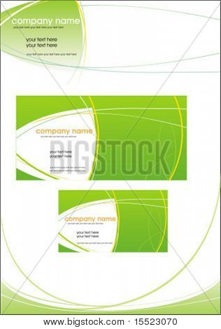 Vector Business Briefpapier Set.