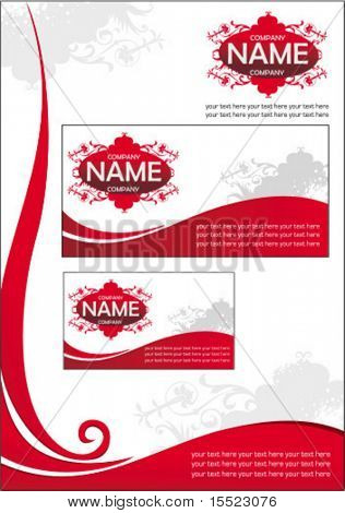 Vector business stationery set. To see similar sets please visit my gallery.