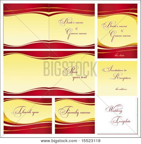 Stylish Wedding templates set 2.