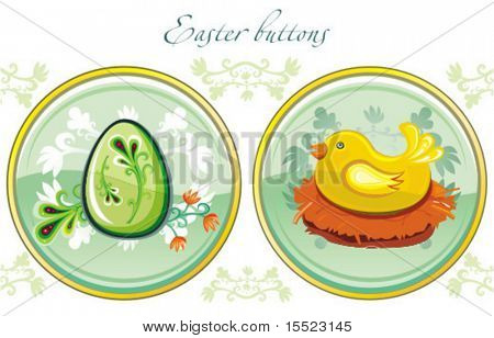 Colorful Easter Buttons. To see similar, please visit my gallery.