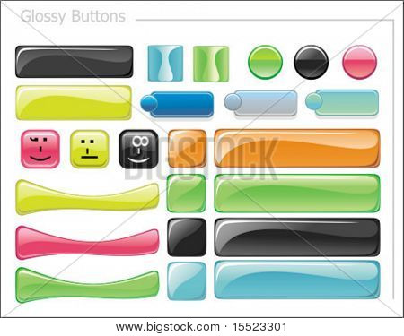 Vector set of glossy web icons. To see similar, please VISIT MY GALLERY.