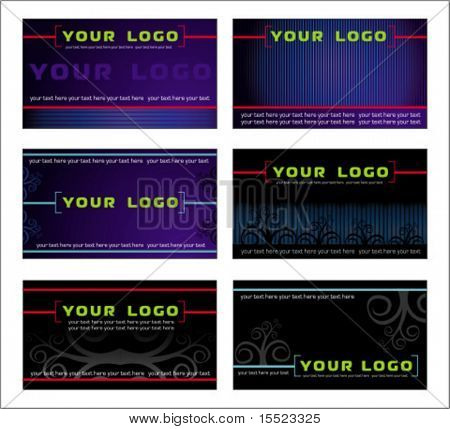 Vector set of business card designs 2.  To see similar, please VISIT MY GALLERY.