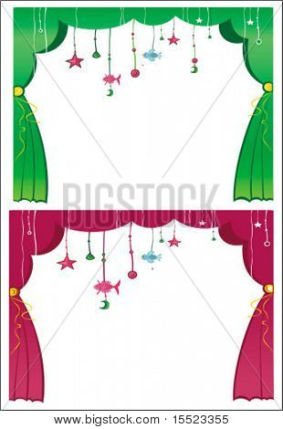 Magical theater curtain. To see similar, please VISIT MY GALLERY.