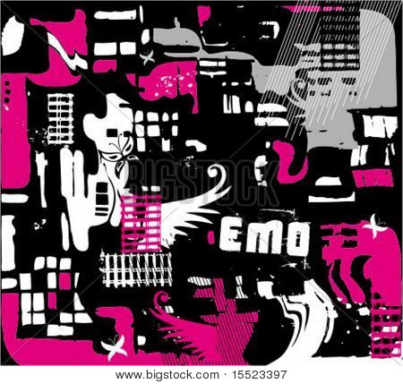 Abstract seamless emo background. To see similar, please visit my gallery