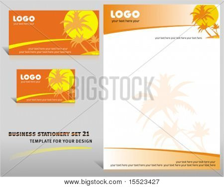 Vector business stationery set 22