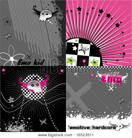 Abstract pink emo background set. To see similar, please VISIT MY GALLERY.