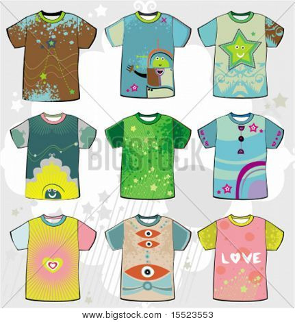 Summer funky t-shirts. To see similar, please VISIT MY GALLERY.