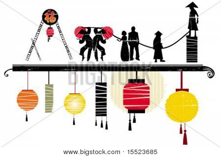 Asian design elements. design elements for chinese new year.  To see similar, please VISIT MY GALLERY.