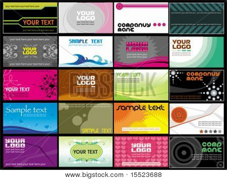 Collection  business cards templates 9.  To see similar, please VISIT MY GALLERY.