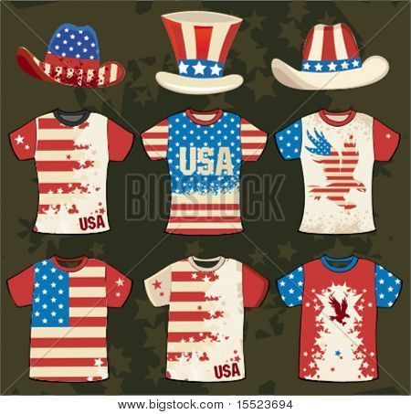 Grunge american stylish t-shirt design 4.  To see similar, please VISIT MY GALLERY.