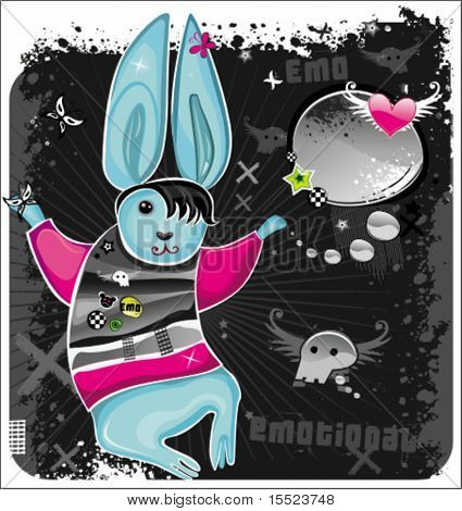 Emo rabbit. To see similar, please VISIT MY GALLERY.