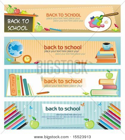 Back to school - set of banners. To see similar, please VISIT MY GALLERY.