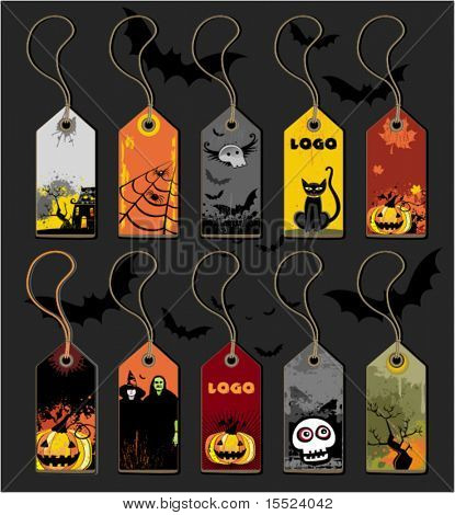 Big Halloween collection of tags.  To see similar, please VISIT MY GALLERY.