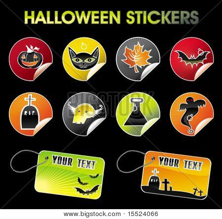 Halloween stickers. To see similar, please VISIT MY GALLERY.
