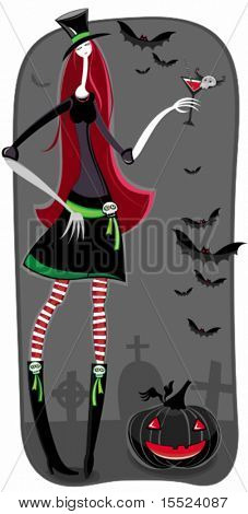 Halloween Vampire or Zombie girl. . To see similar, please VISIT MY GALLERY.