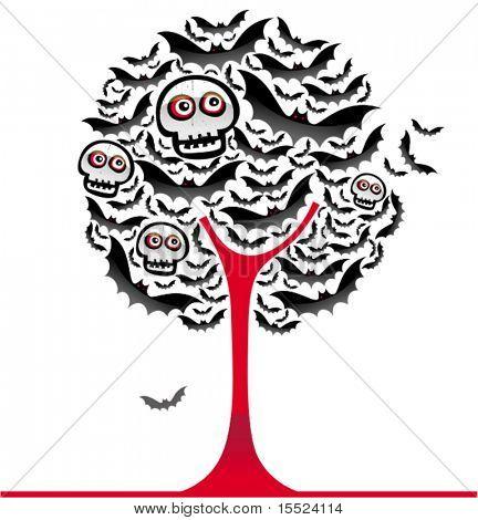 Árbol de murciélagos de Halloween 2. Ver similares, por favor visite mi Galería.