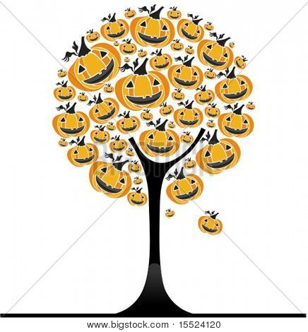 Halloween pumpkin  tree. To see similar, please VISIT MY GALLERY.