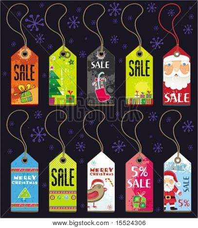 Christmas grunge tags. To see similar, please VISIT MY GALLERY.