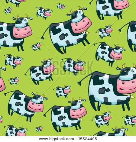 Cute friendly cow pattern.  To see similar, please VISIT MY GALLERY.