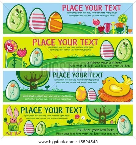 Easter Banners with room for your text. To see similar, please VISIT MY GALLERY.