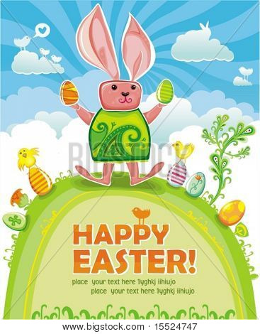 Easter greeting card. To see similar, please VISIT MY GALLERY.