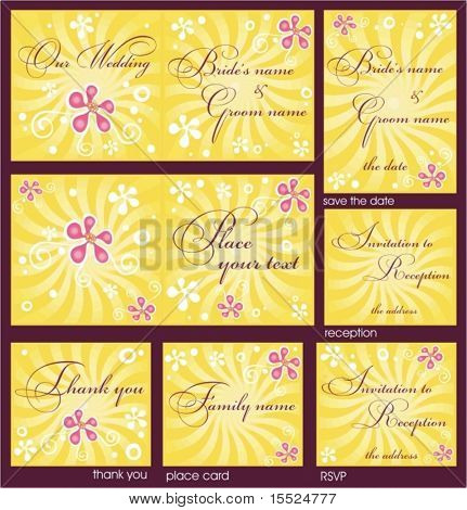 Wedding Reception card set 11. . To see similar, please VISIT MY GALLERY.