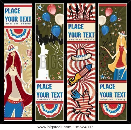American patriotic vertical banners.  To see similar, please VISIT MY PORTFOLIO