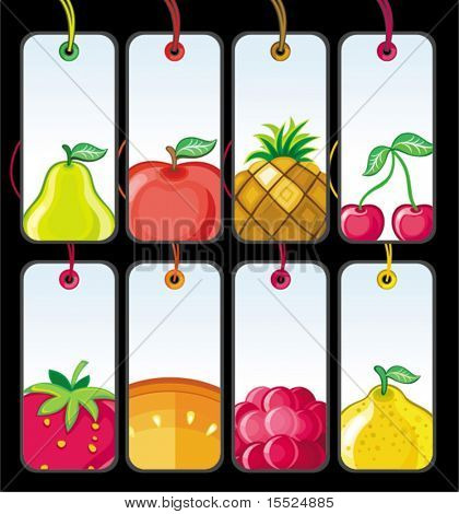 Set of fruit tags #2. To see similar, please VISIT MY PORTFOLIO