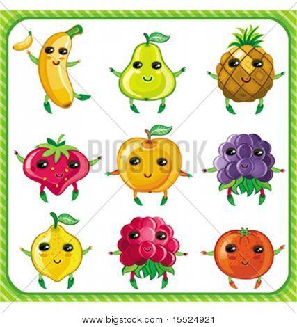 Cartoon Früchte.  Um ähnlich zu sehen, bitte besuchen SIE mein PORTFOLIO