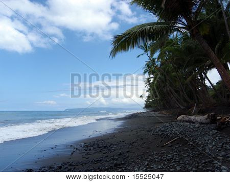 Remote Beach In Punta Banco, Costa Rica On The Pacific Coast