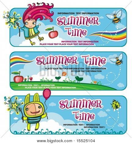 Fairy sunny banners for kids.