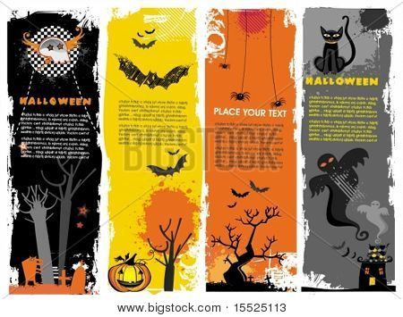Set of vertical Halloween banners. To see similar,  please VISIT MY PORTFOLIO