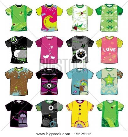 Colorful t-shirts.To see similar,  please VISIT MY PORTFOLIO