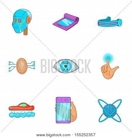 Device of future icons set. Cartoon illustration of 9 device of future vector icons for web