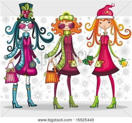 Fashion Christmas girls set
