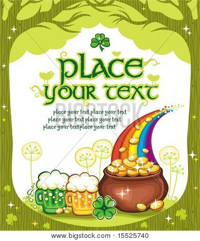Patrick's Day natural frame with space for your text