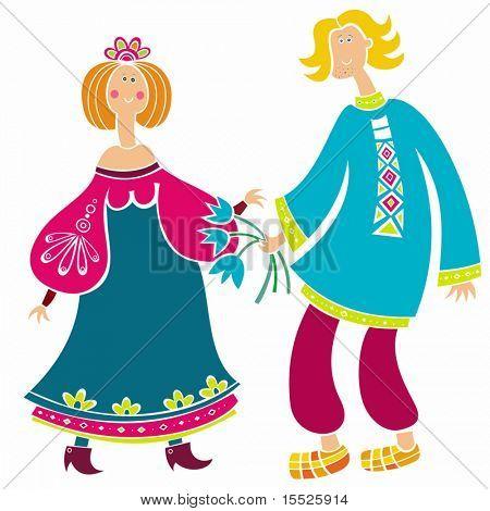 Hombre ruso y girl (serie)