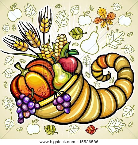 Thanksgiving theme: Harvest cornucopia