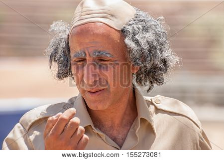 Actor Play Ben Gurion - Primary Founder Of The State Of Israel And The First Prime Minister Of Israe