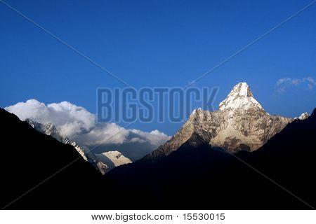 Ama Dablam - a mountain in Mount Everest region in Himalaya, Nepal