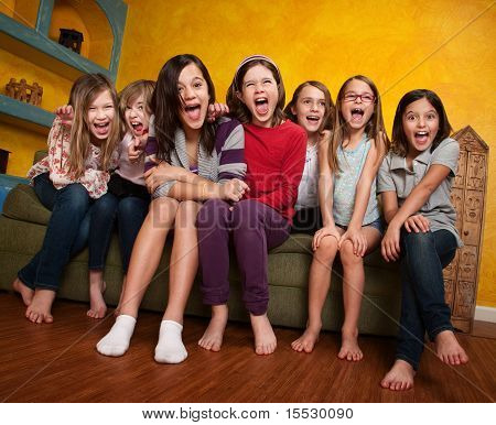 Group Of Girls Screaming