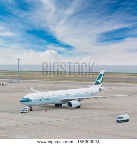 Cathay Pacific In Chubu Centrair International Airport Japan.