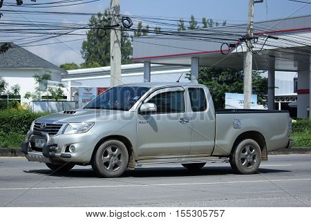 CHIANG MAI THAILAND - OCTOBER 9 2016: Private Pick up Car Toyota Hilux Vigo. On road no.1001 8 km from Chiangmai city.